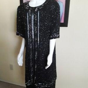 Beautiful Short Beaded Dress by Stenay